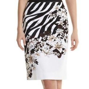 Zebra Floral Pencil Skirt by WHBM